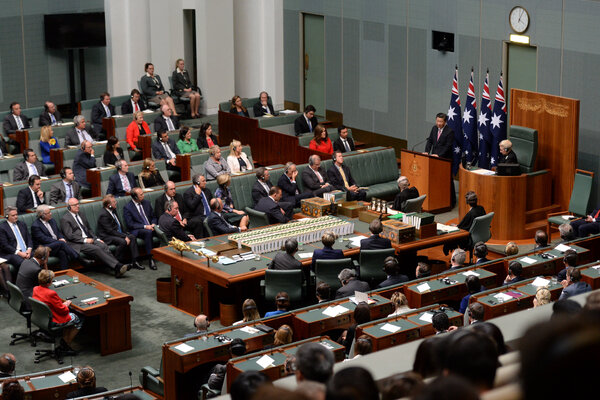 Xi Jinping, the Chinese leader, speaking to both houses of the Australian Parliament in 2014, an honor usually given to American presidents.