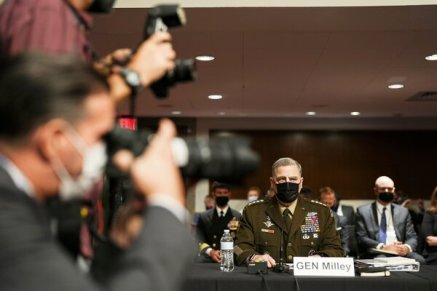 Gen. Mark A. Milley, the chairman of the Joint Chiefs of Staff, was questioned about the Afghanistan withdrawal and the end of the Trump administration.