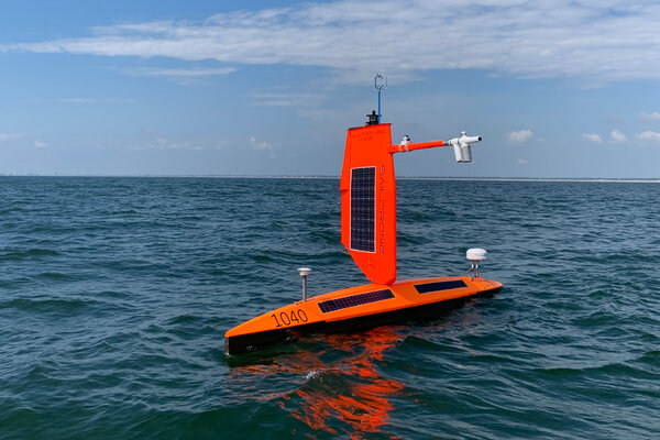 """""""For our first boat to get through a Category 4 hurricane without any damage is phenomenal from an engineering perspective,"""" the chief executive of Saildrone said."""