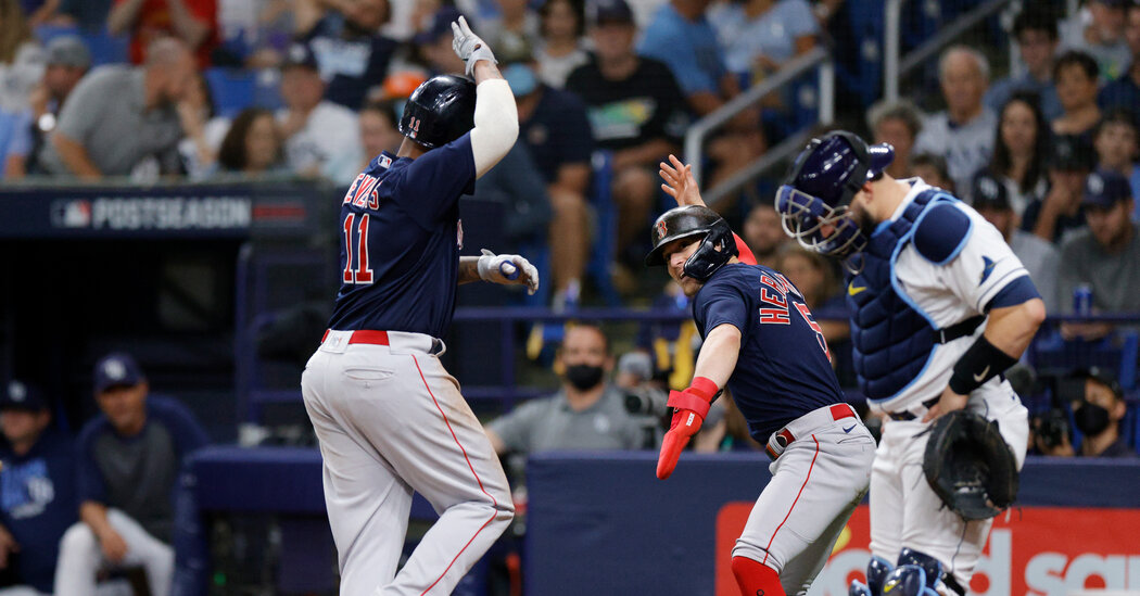 , ALDS: Red Sox Use Barrage of Homers to Tie Series With Rays, The Habari News New York