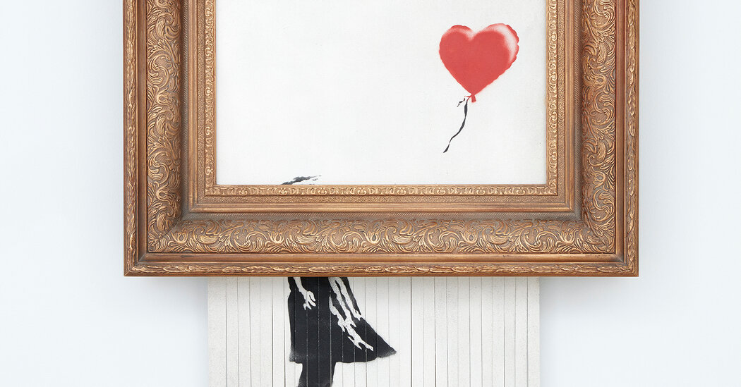 , Banksy's Shredding Artwork Is Auctioned for $25.4 Million at Sotheby's, The Habari News New York