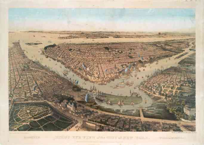Город Нью-Йорк, Бруклин и Вильямсбург, 1859 г.