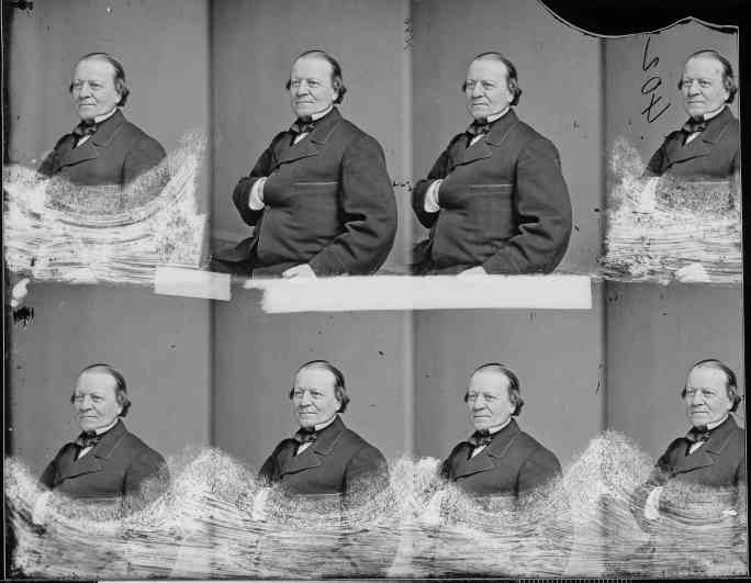 "Brooklyn Mayor Martin Kalbfleisch circa 1860-1865. The image is a carte de visite negative. Photographers used to take the exact same image on one negative at the same time to ""mass"" produce the very popular carte de visite cards."