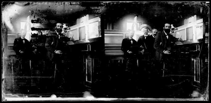 Четверо мужчин в ЗАГСе Бруклинской ратуши, около 1872–1887 гг.