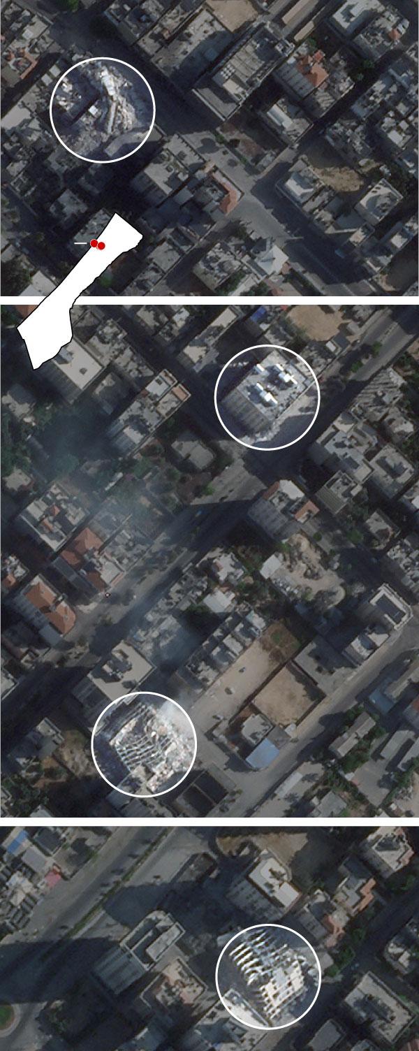 gaza city structures satellite Artboard 4