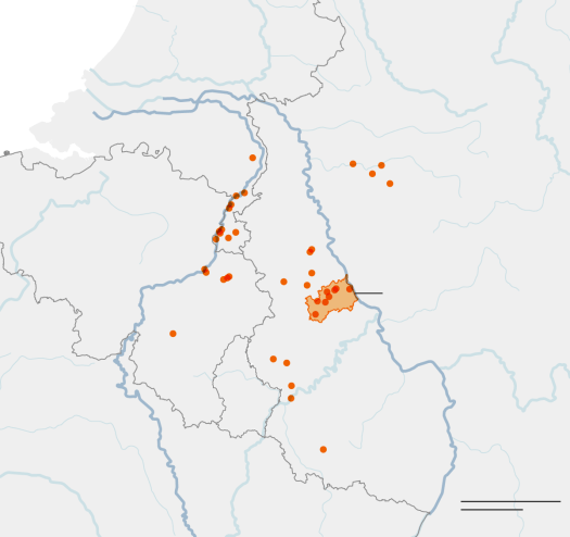 Maps Showing the Extent of the Flooding in Europe 2