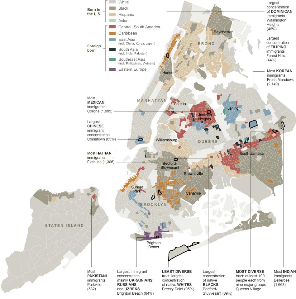 medium resolution of 2010 new york city ethnic neighborhood map