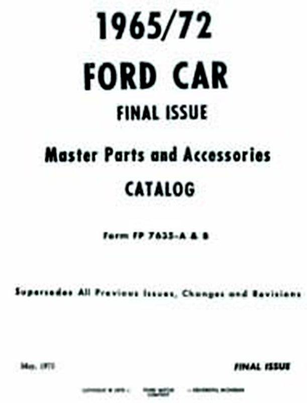 Bishko OEM Repair Maintenance Parts Book Bound for Ford