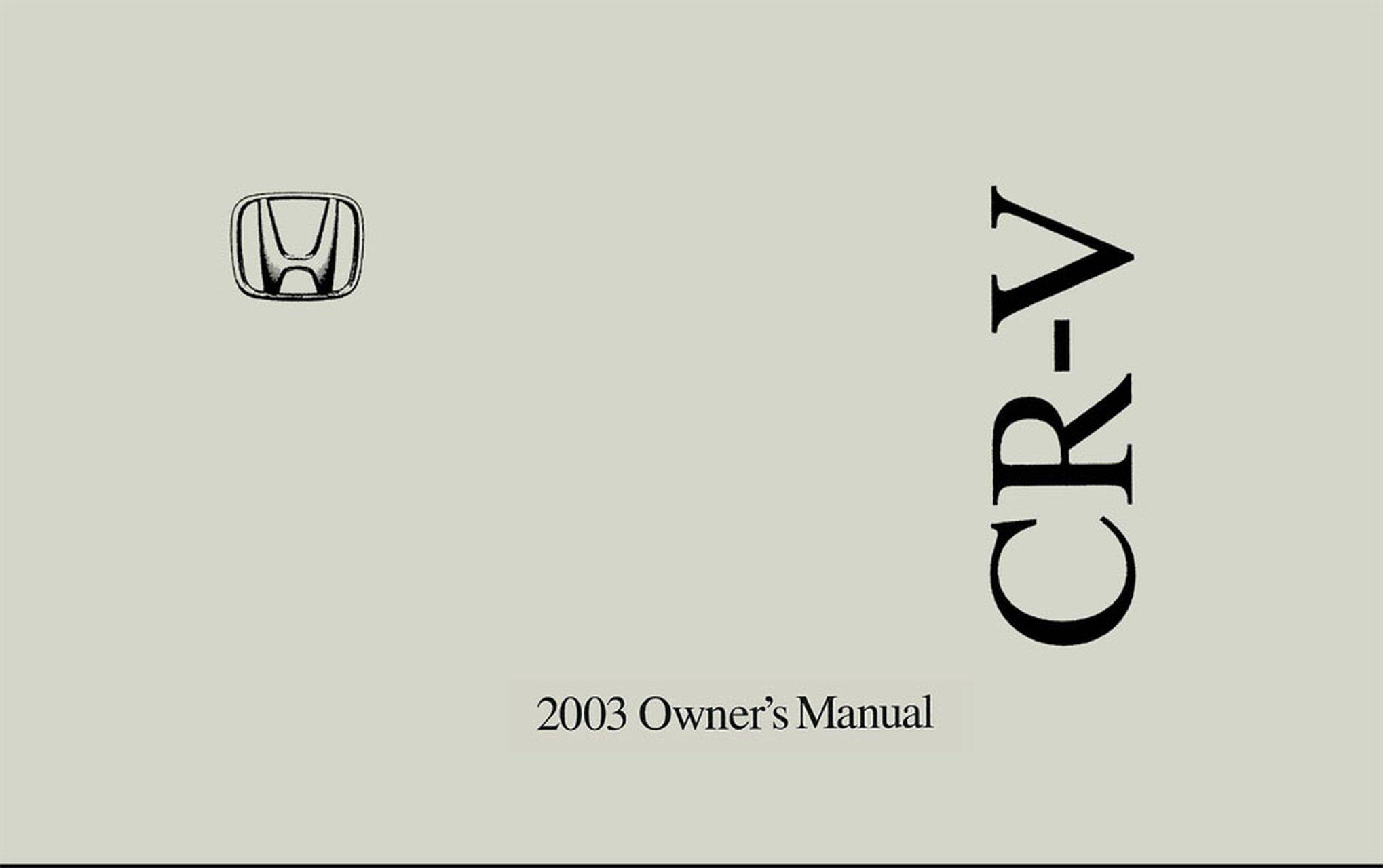 Bishko OEM Maintenance Owner's Manual Bound for Honda Cr-V