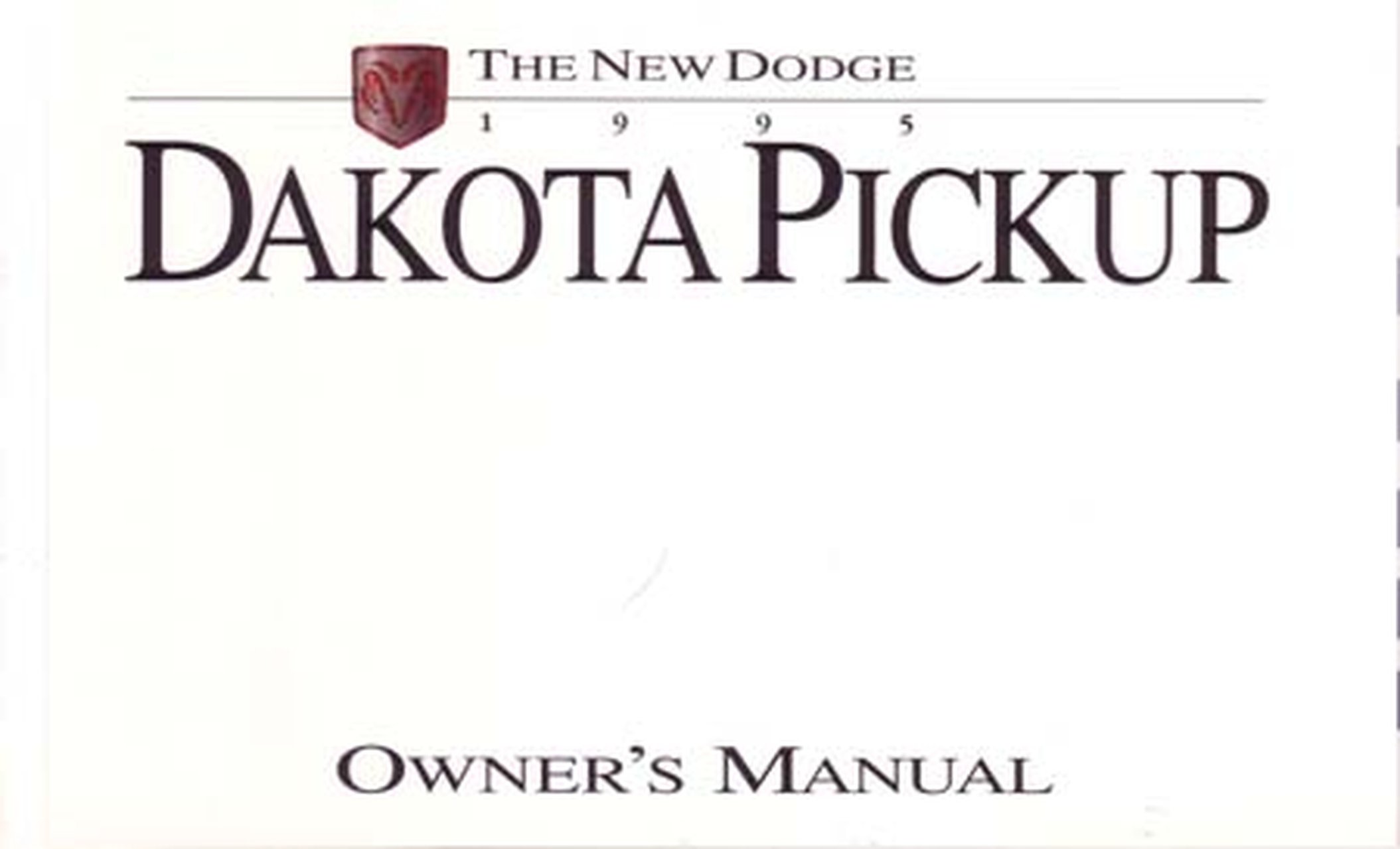 Bishko OEM Maintenance Owner's Manual Bound for Dodge