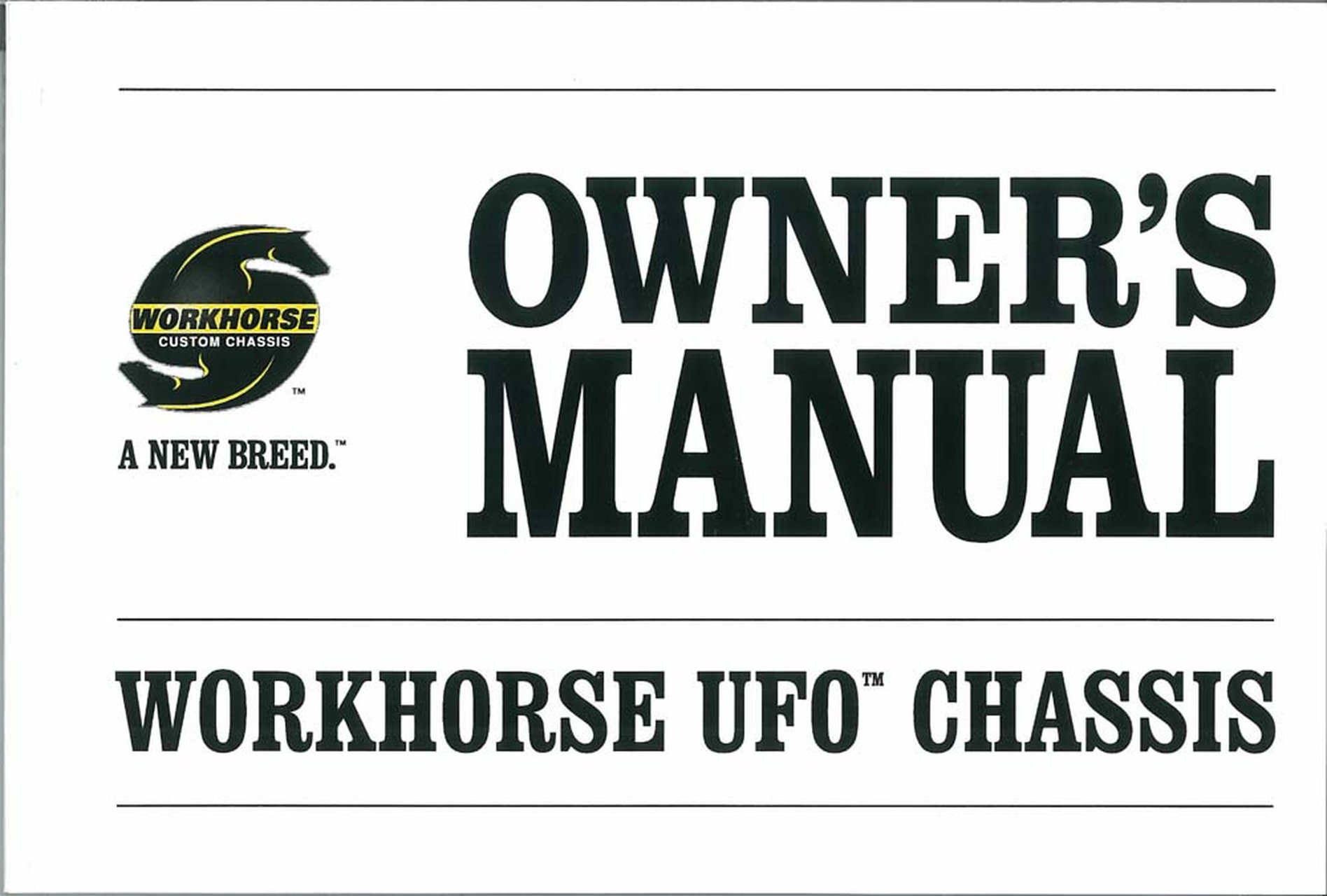 OEM Maintenance Owner's Manual Workhorse All Models Ufo
