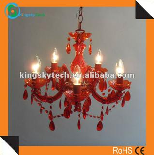 Acrylic Chandeliers/chandelier/red Chandelier/ Plastic Chandelier/acrylic Pendant Lamp/pendant Light Ks1029p-5rd: China Suppliers - 854544