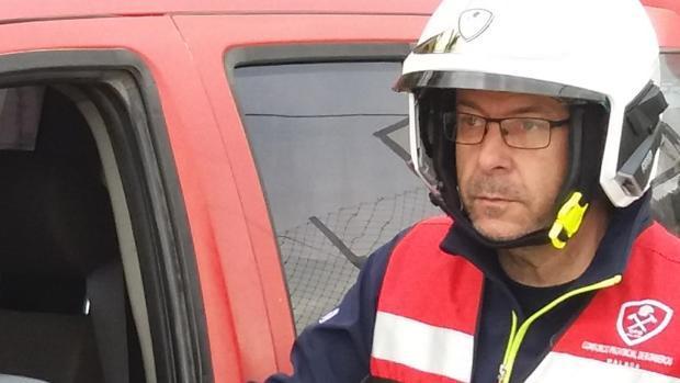 Julián Moreno durante un servicio