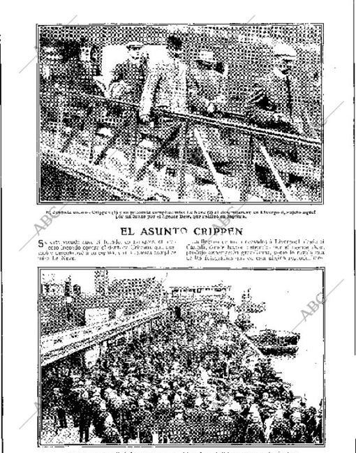 El doctor Crippen y Le Neve, al desembarcar en Liverpool