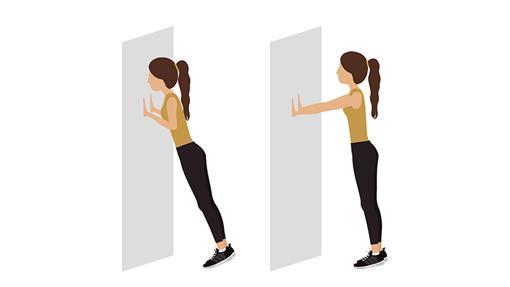 Flexiones en la pared.