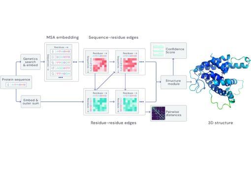 Proceso de aprendizaje para procesar gráficas espaciales y predecir la estructura 3D de proteínas