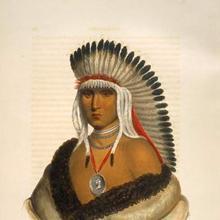 Retrato de un líder pawnee.