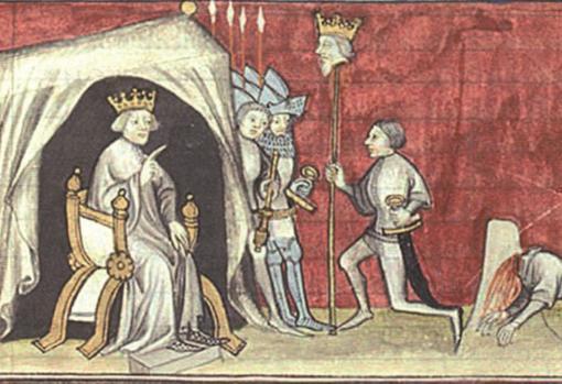Enrique II decapitó a su hermanastro Pedro I y exhibió su cabeza clavada en una lanza. De ahí su sobrenombre de Enrique «El Fratricida»