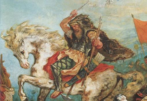 Retrato idealizado de Atila, por Eugène Delacroix