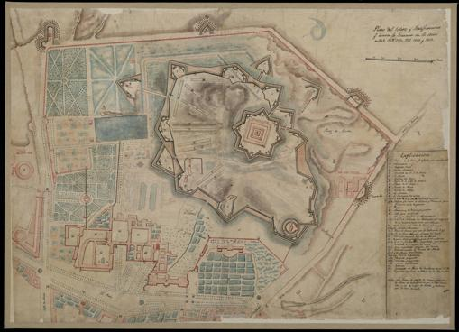 Plan of the Retiro and Fortifications qe. the French made in the Years of 1808, 1809, 1810, 1811, 1812 and 1813