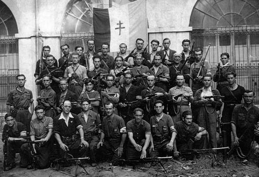 Imagen de la brigada 35 de la UNE