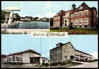 Ansichtskarte / Postkarte Ritterhude, Schwimmbad, Schule ...