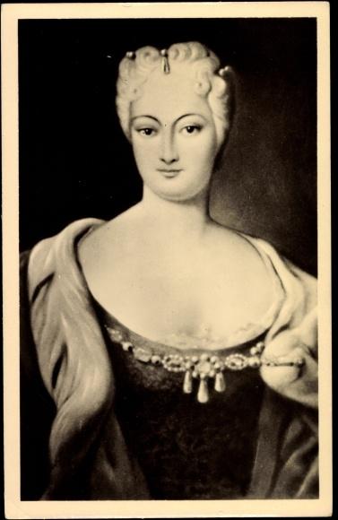 Ansichtskarte  Postkarte Stolpen Portraitbild von Grfin