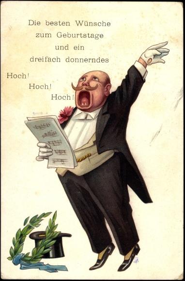Ansichtskarte  Postkarte Glckwunsch Geburtstag Mann