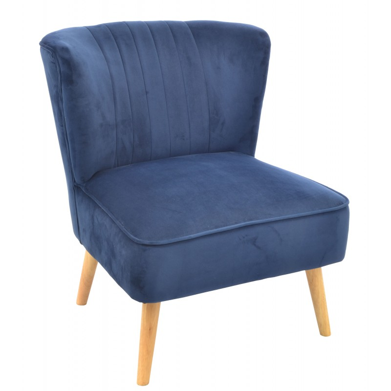 bedroom chair navy vibration game cromarty blue velvet covered accent or with wooden legs loading zoom