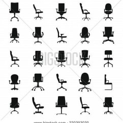 Office Chair Illustration Covers For Christening Icons Vector Photo Free Trial Bigstock Set Simple Of 25 Web