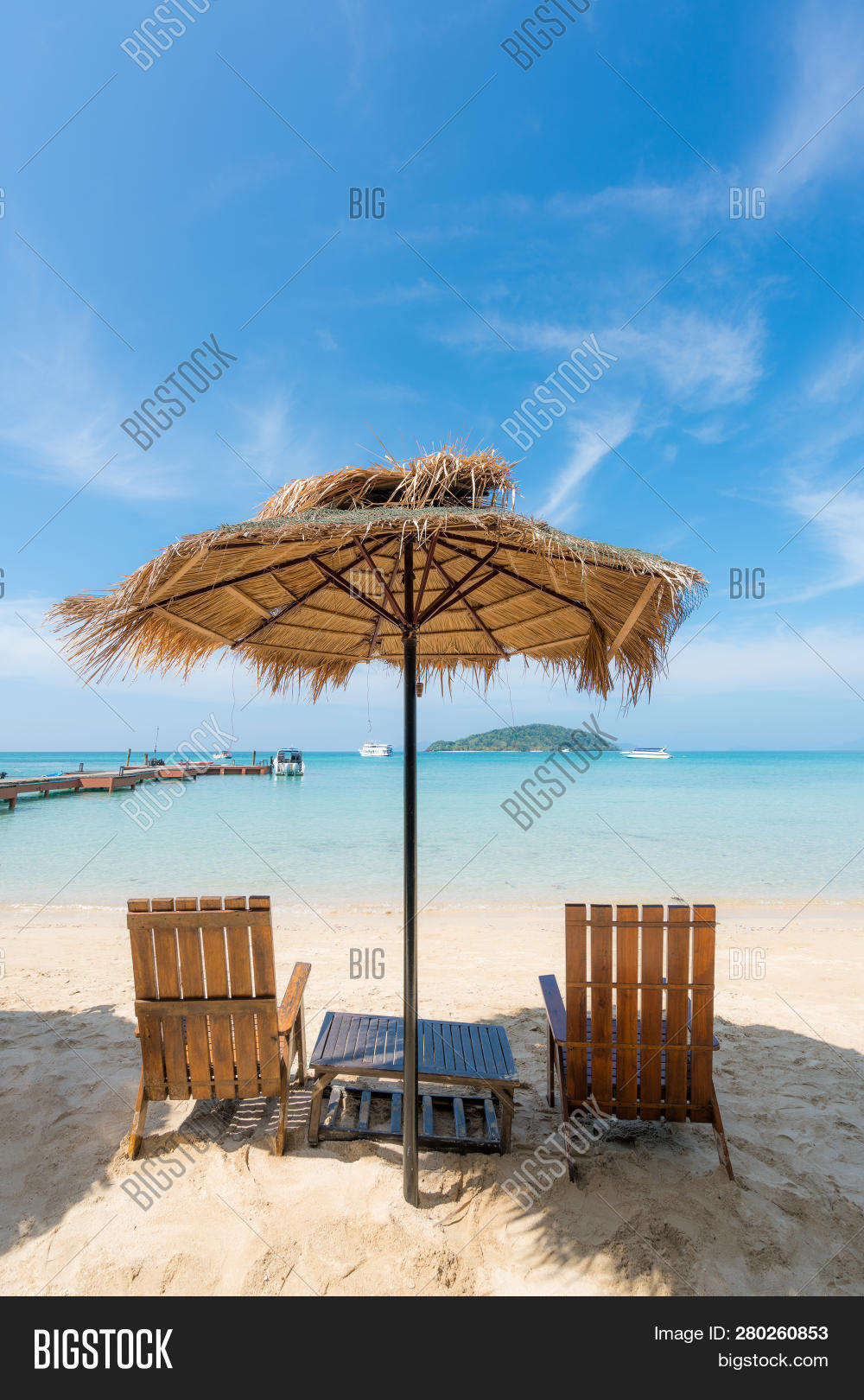 Beach Chairs With Umbrella Beach Chairs Umbrella Image Photo Free Trial Bigstock