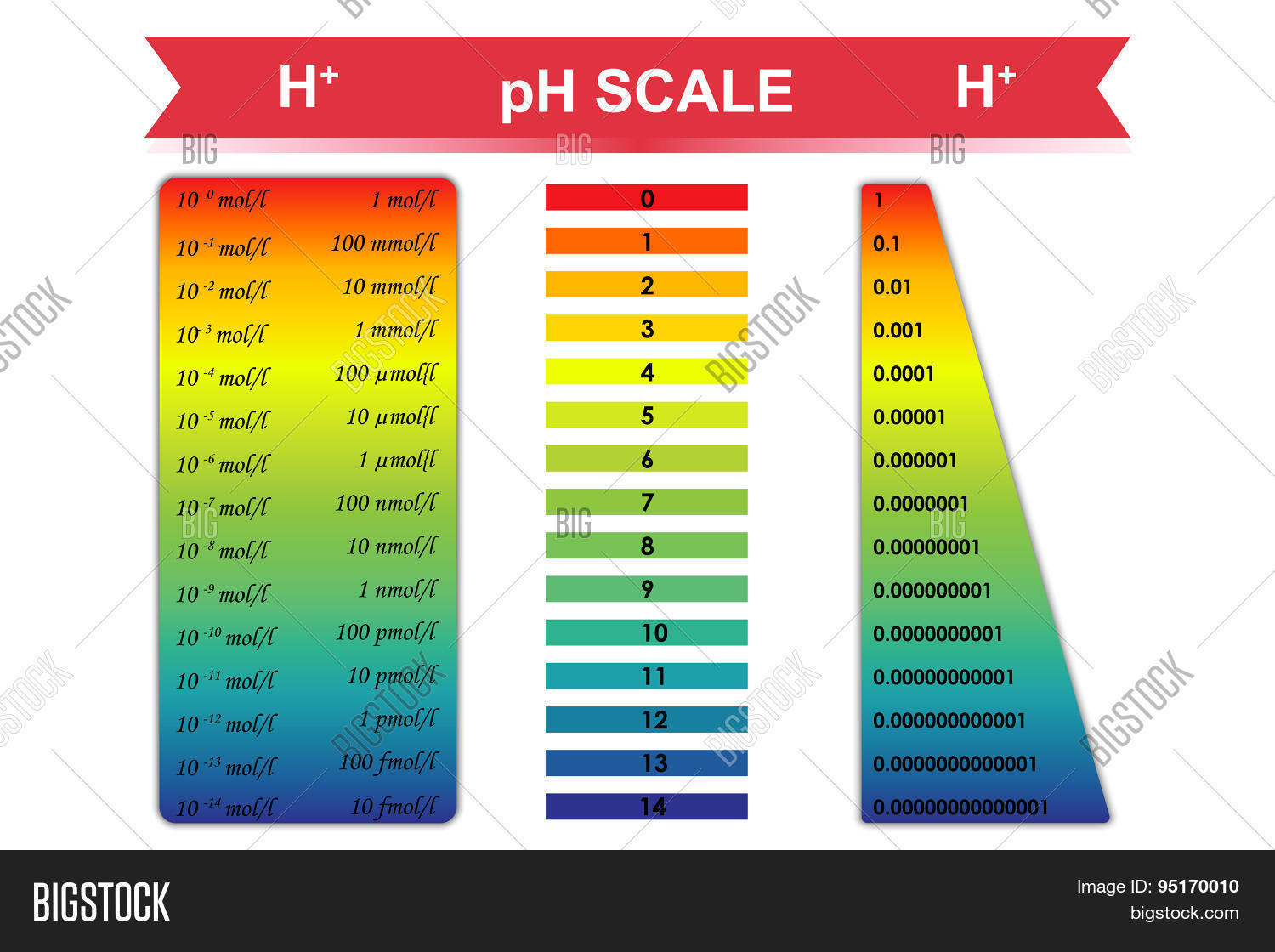 hight resolution of ph scale chart vector illustration