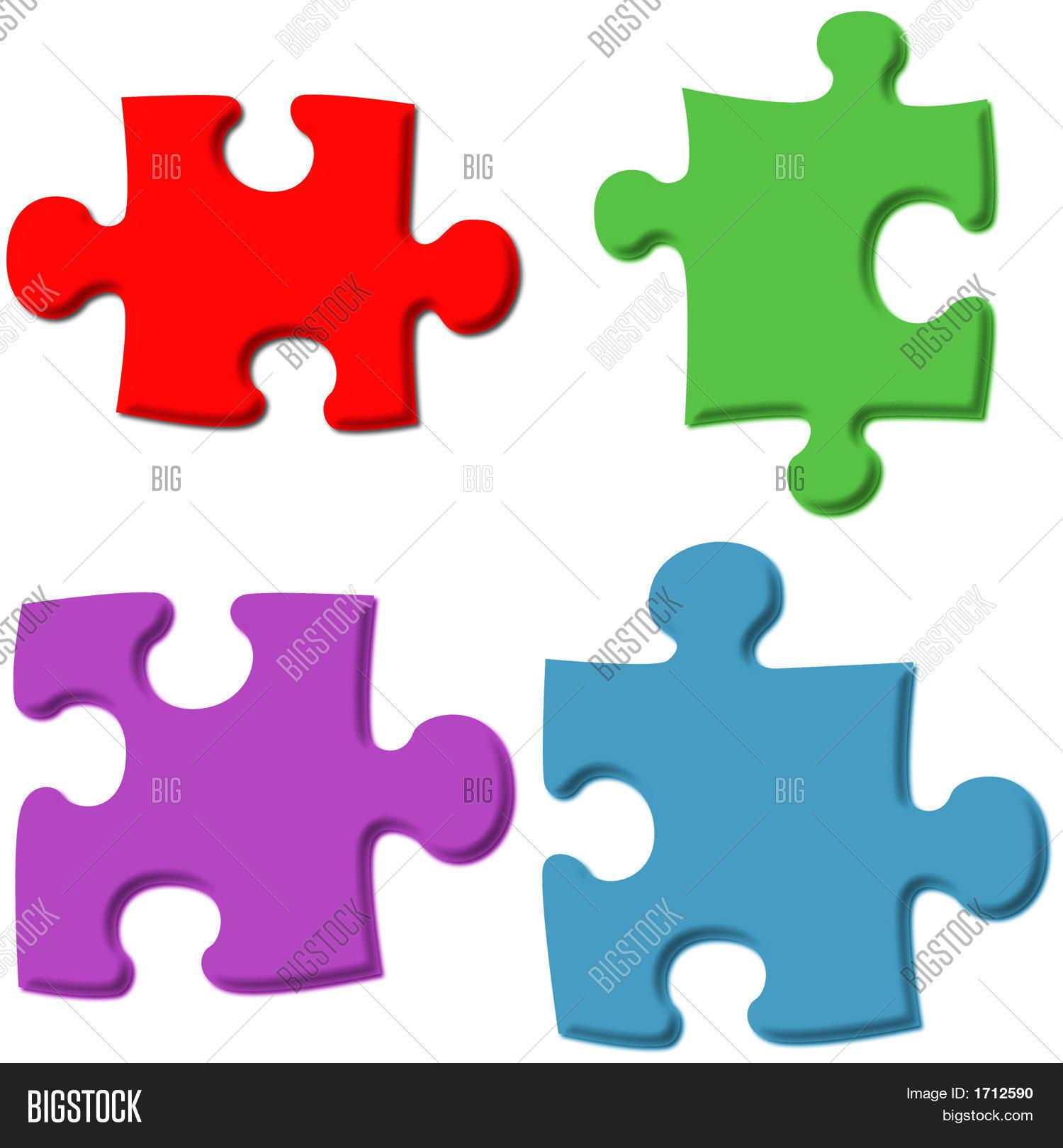3D Puzzle Pieces Image & Photo (Free Trial) | Bigstock