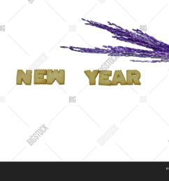 biscuit alphabets of the word new year with blur purple ears of rice on white isolated [ 1500 x 1120 Pixel ]