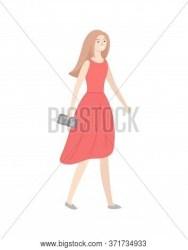 Lady Elegant Red Vector & Photo Free Trial Bigstock