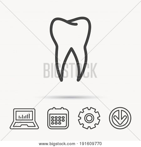 tooth icon dental vector