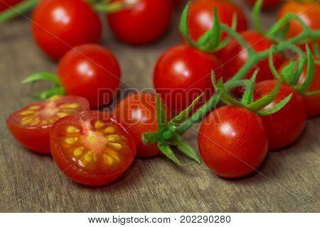 Fresh Cherry Tomato On Image & Photo (Free Trial) | Bigstock