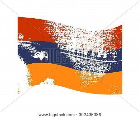 armenia flag waved vector