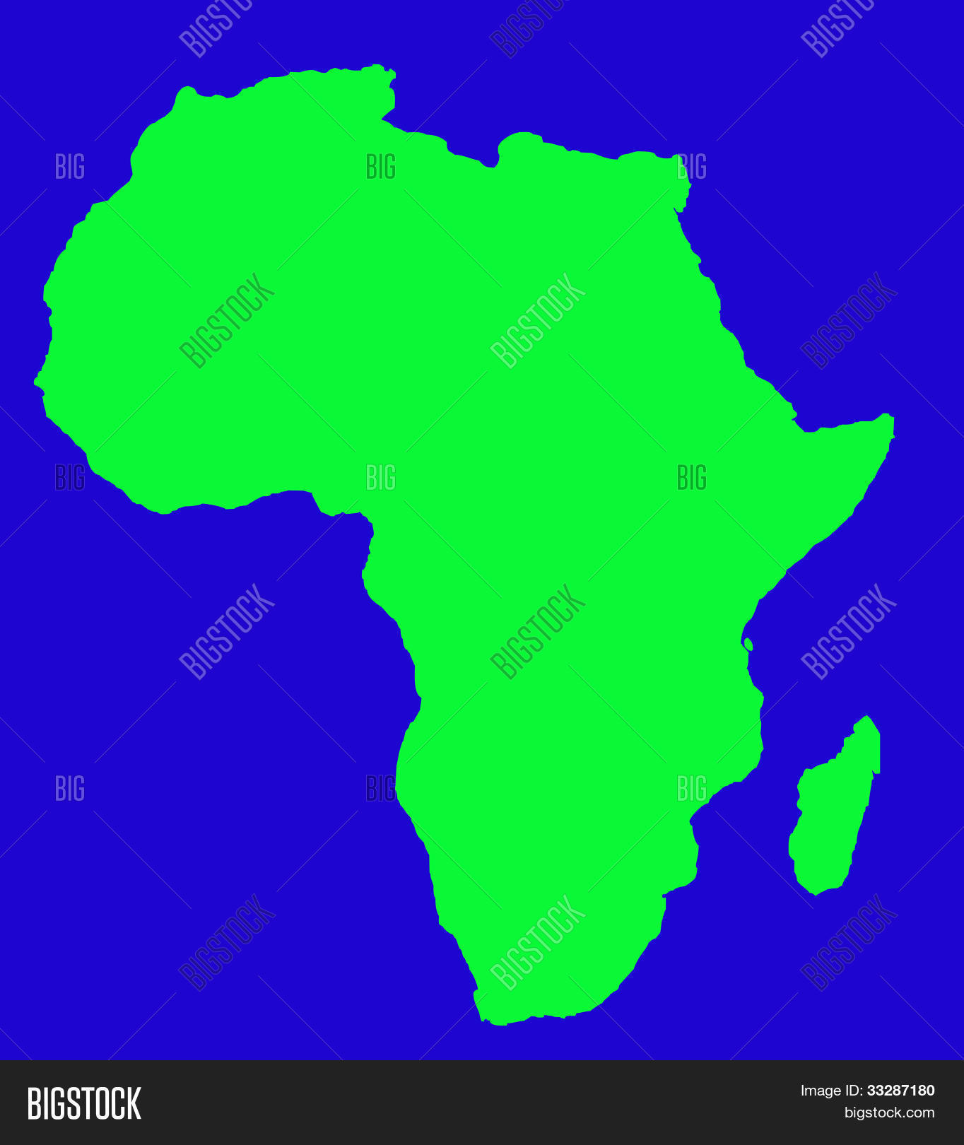 Outline Map Africa Image Photo Free Trial Bigstock