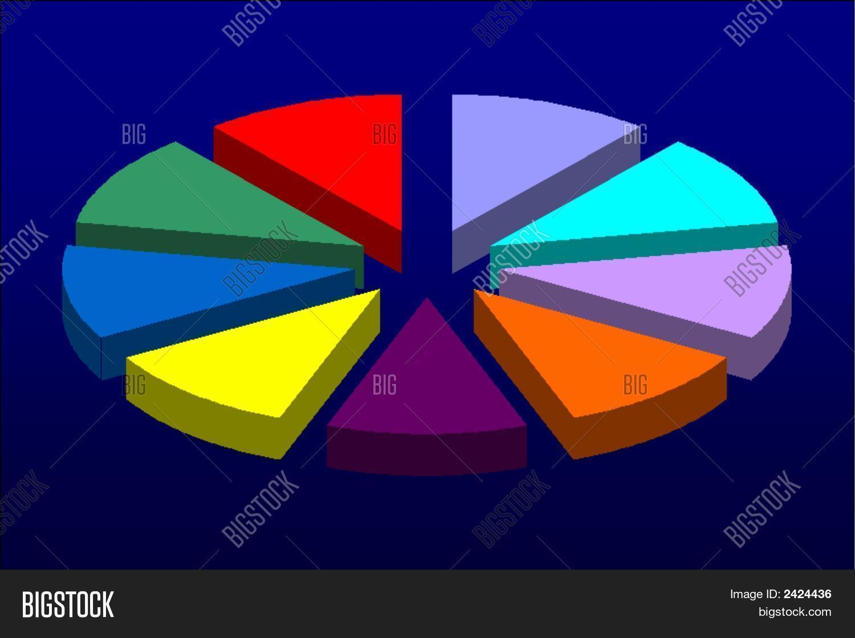 Pie Chart Equal Parts Image & Photo | Bigstock