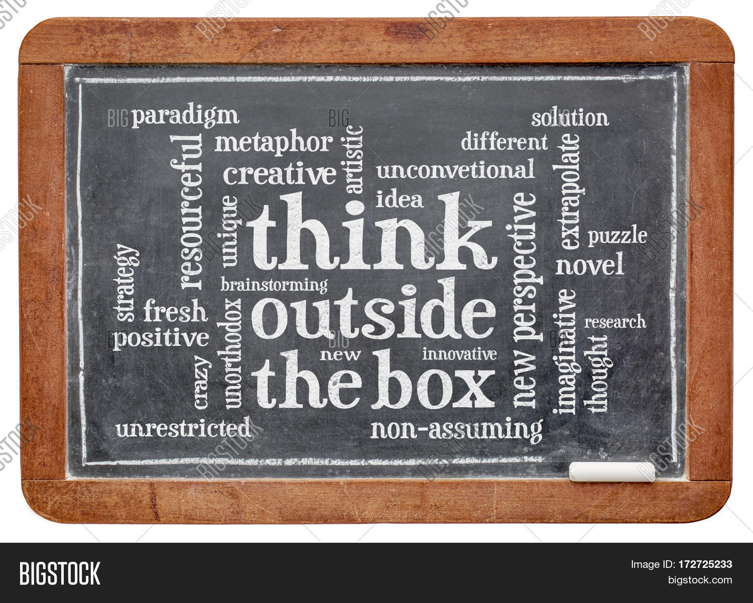 Think Outside Box Word Image Amp Photo Free Trial