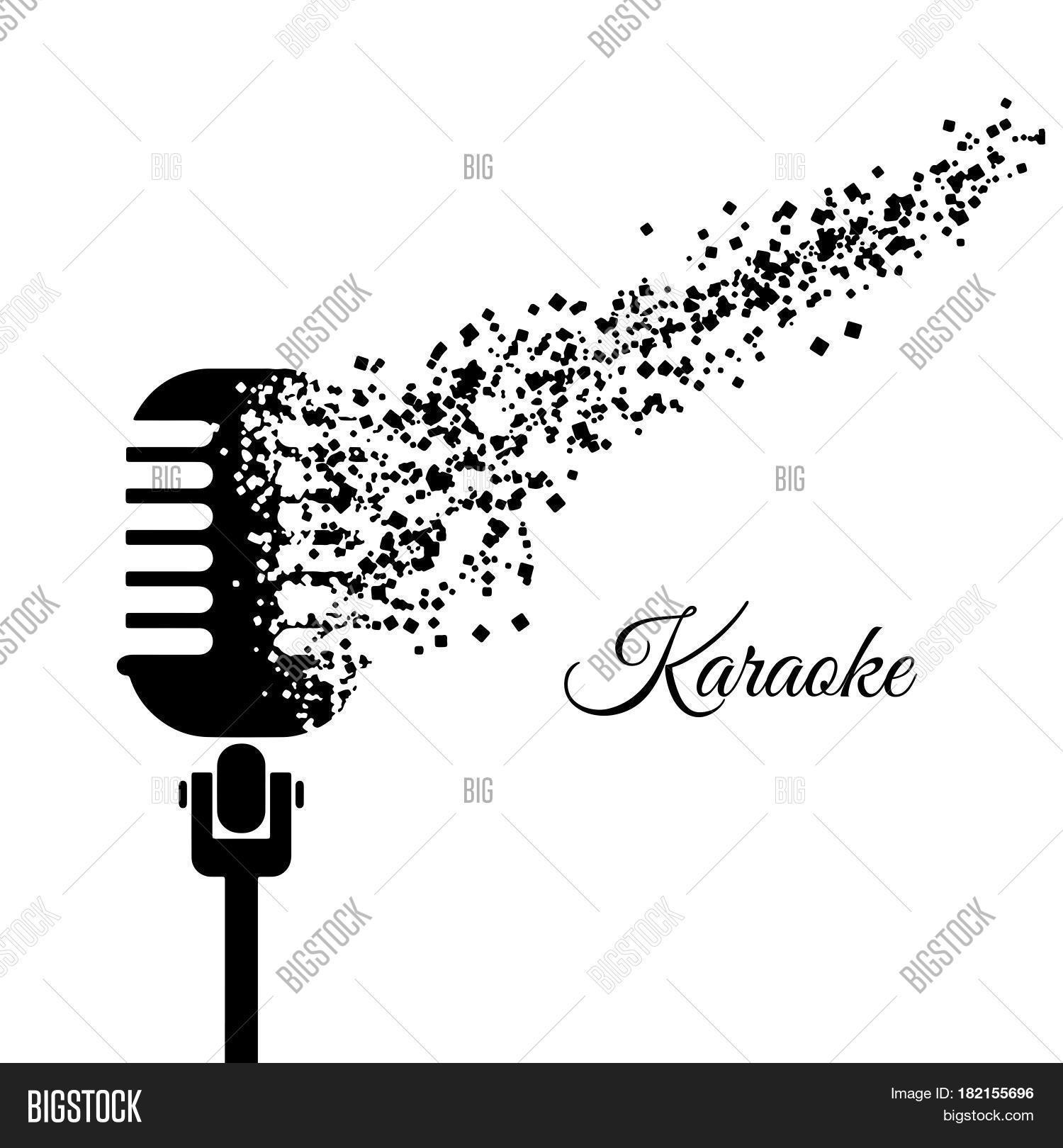 Music Karaoke Poster Templates Vector Amp Photo