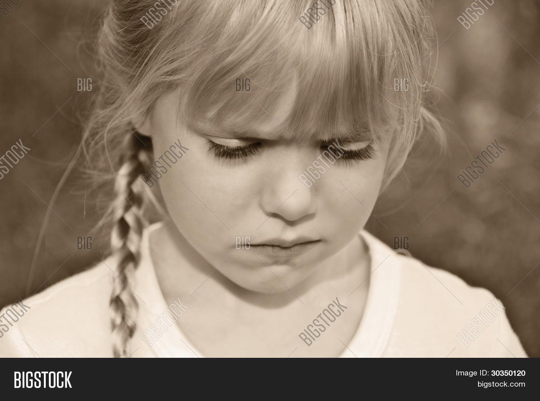 pouting child image photo