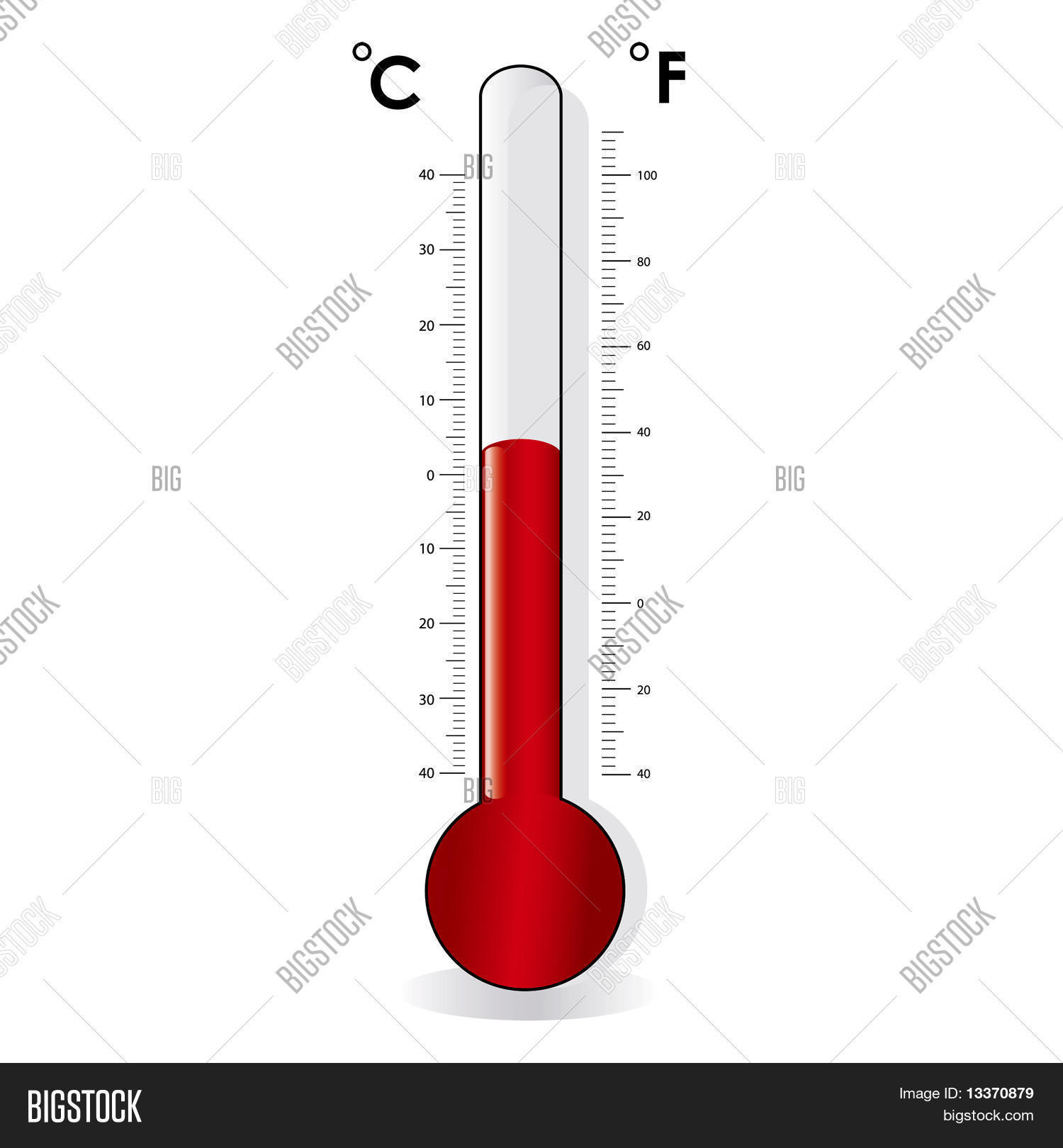 Thermometer Celsius Vector Amp Photo Free Trial