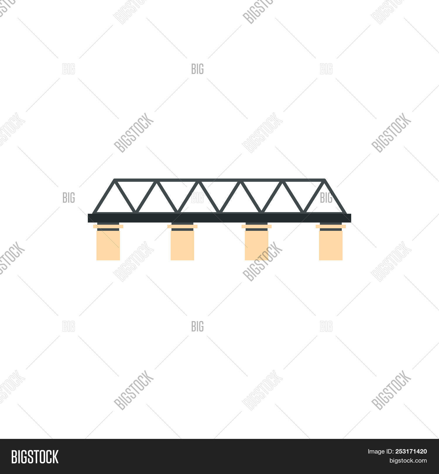 truss style diagram rv converter charger wiring bridge icon flat image photo free trial bigstock in on a white background