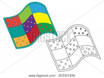 Quilt Colorful Black Vector & Photo Free Trial Bigstock