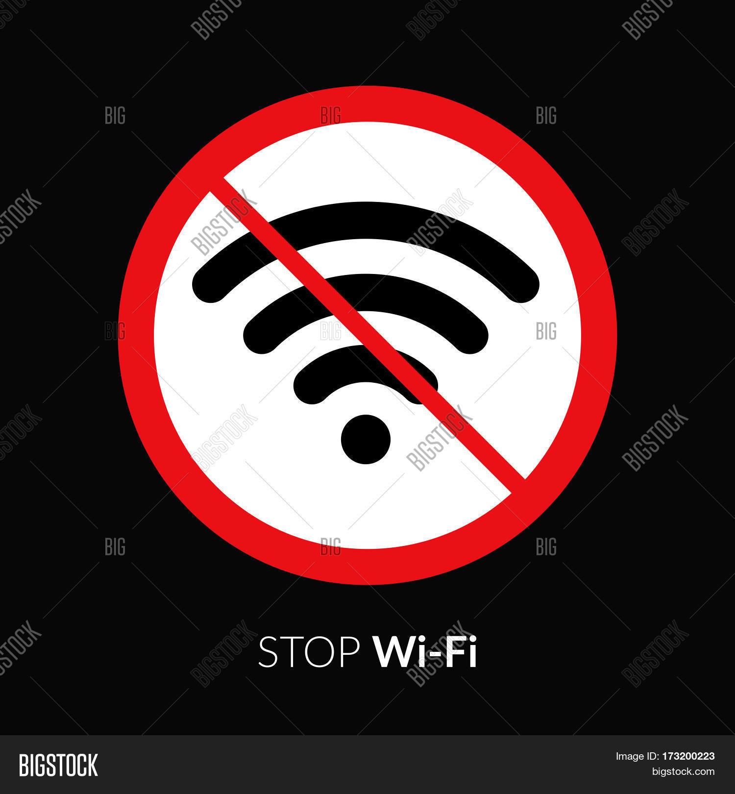 stop wifi striker vector