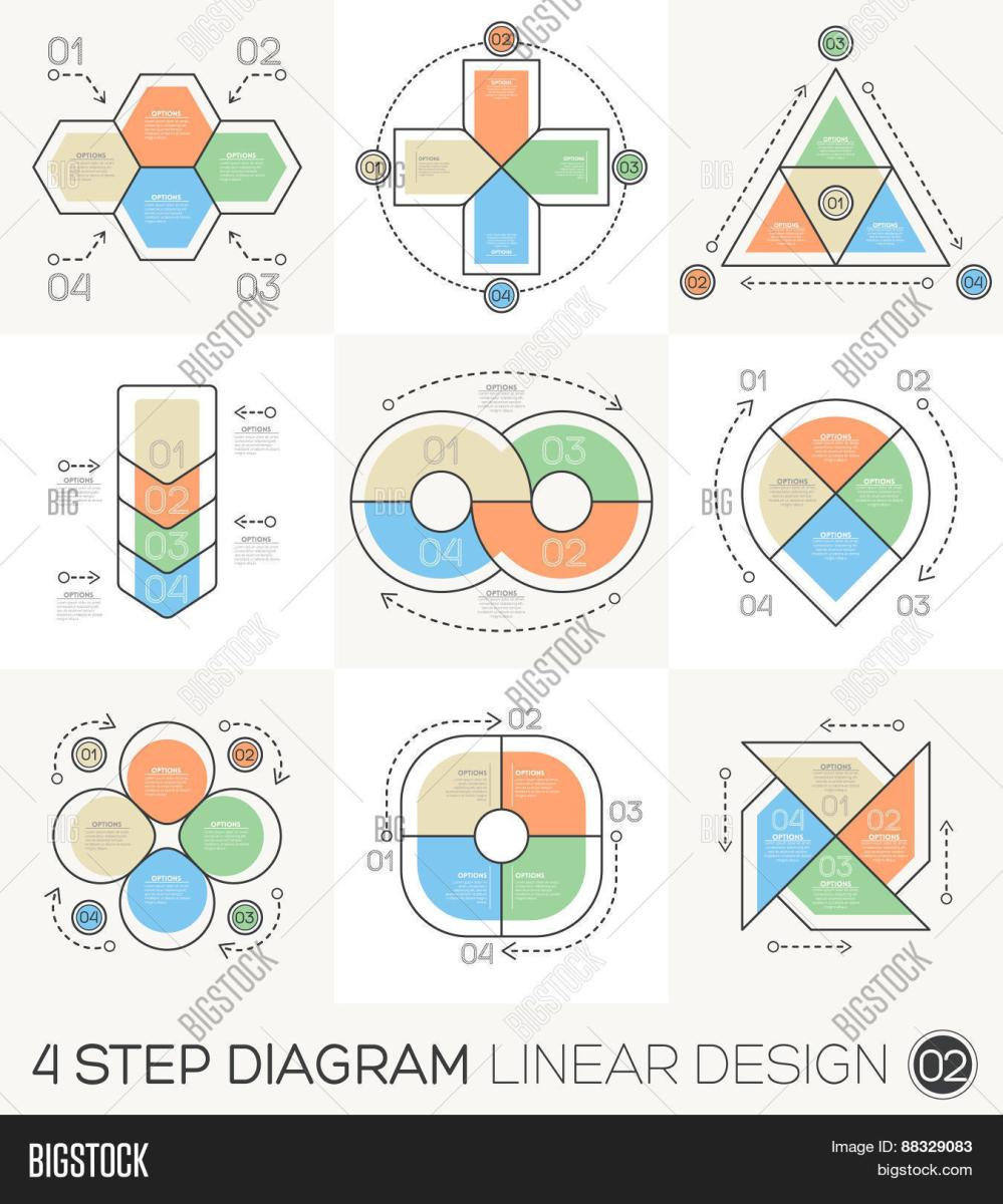medium resolution of linear line graphic design elements infographic template for cycle diagram graph presentation and round chart business concept with 4 options parts steps