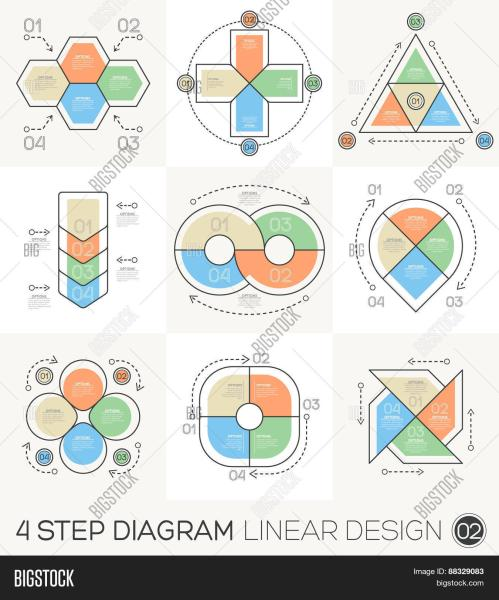 small resolution of linear line graphic design elements infographic template for cycle diagram graph presentation and round chart business concept with 4 options parts steps