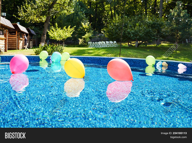 swimming pool colorful image